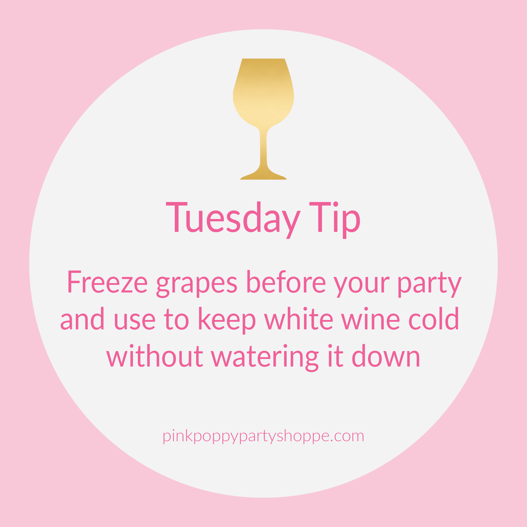 {Party Tip} Freeze Grapes To Chill White Wine