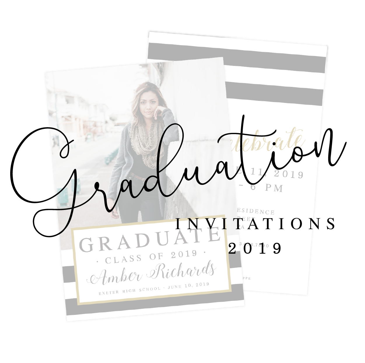2019 Graduation Announcements and Party Invitations