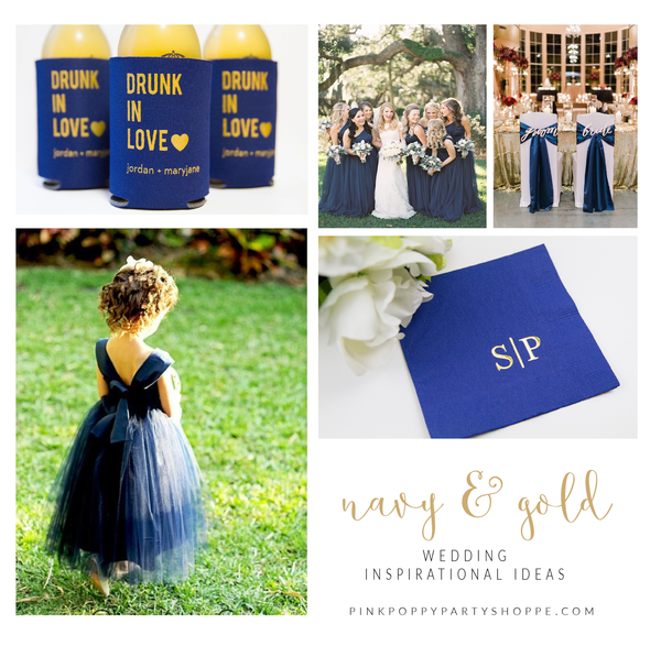 {Weddings} Navy and Gold Wedding Inspiration