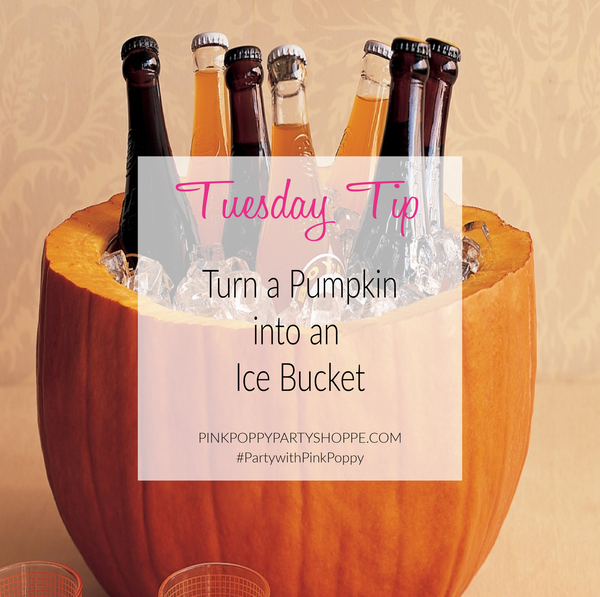 {Party Tip} Pumpkin Ice Bucket
