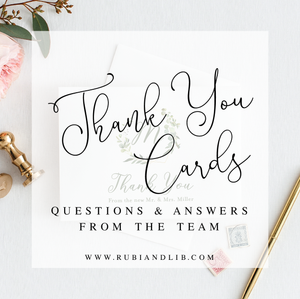 Your Wedding Thank You Card Questions Answered