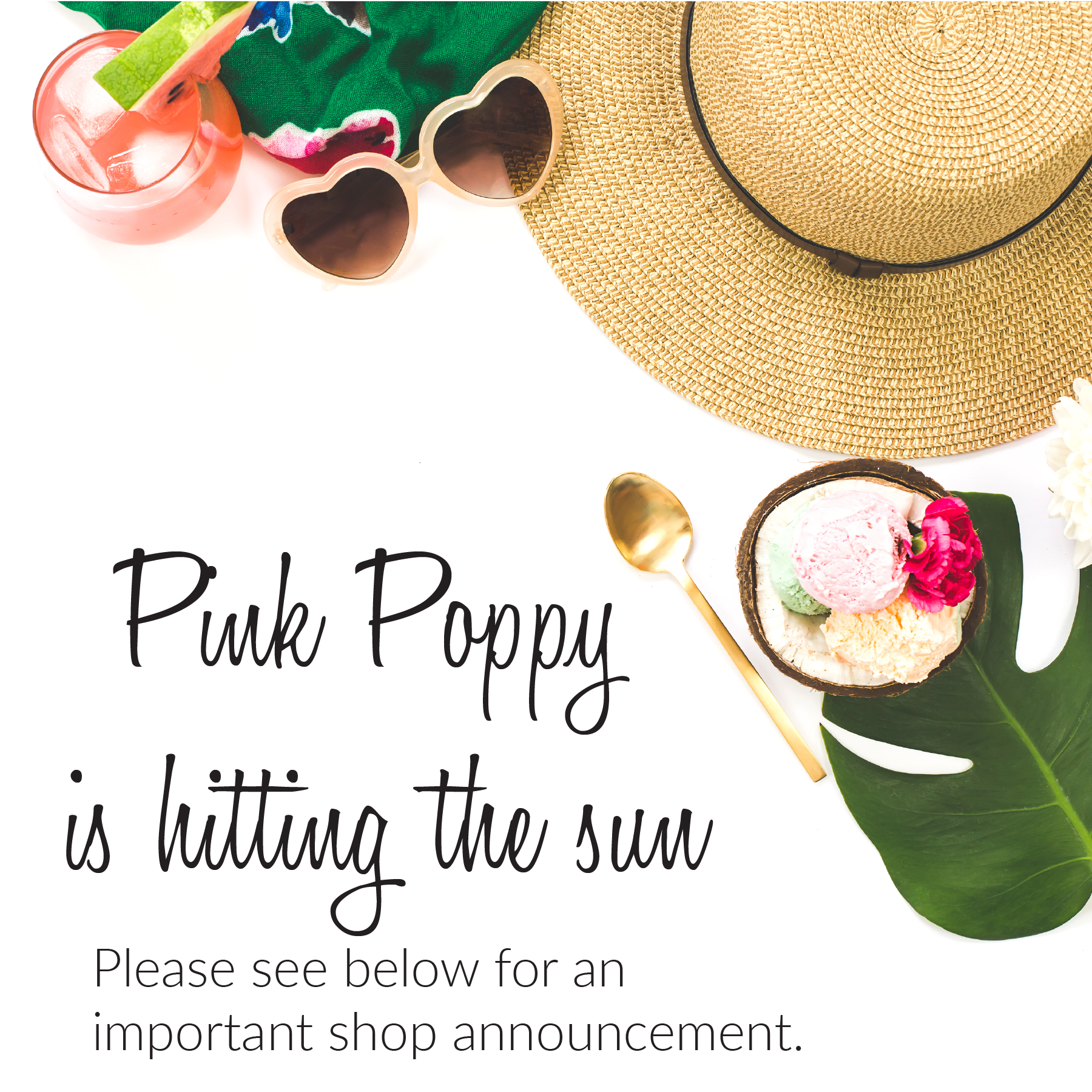 Pink Poppy Is Hitting The Sun - Vacation Notice