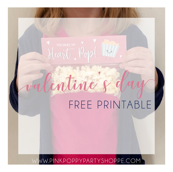 💕Free Printable Valentine's Day Classroom Treat Bag Topper