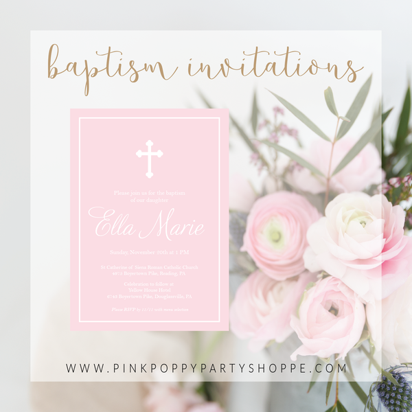 Baptism and First Communion Invitations