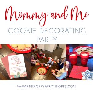 Mommy and Me Cookie Decorating Party | Pink Poppy Party Shoppe