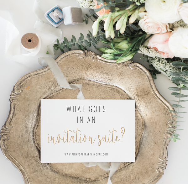 What Goes In An Invitation Suite?