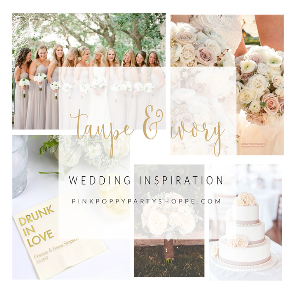 {Weddings} Taupe and Ivory Wedding Inspiration