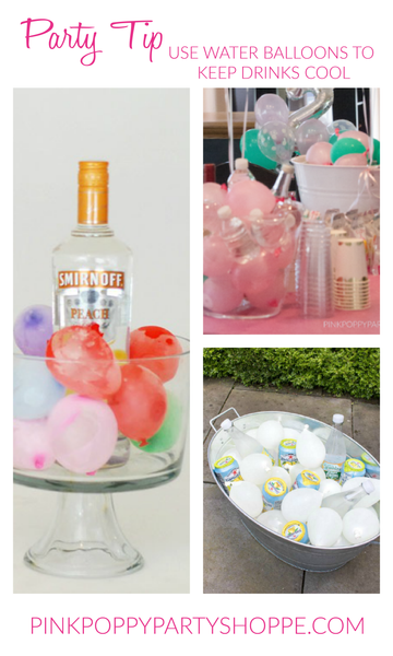{Party Tip}  Frozen Water Balloons Keep Drinks Cool