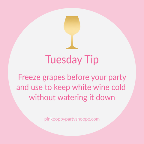 {Party Tip} Freeze Grapes to Add to Wine in Summer | Pink Poppy Party Shoppe Blog