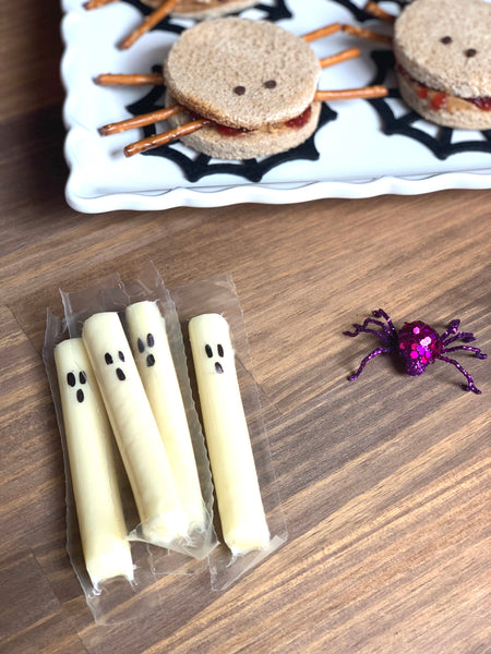 Ghost Cheese Stick Halloween Treats