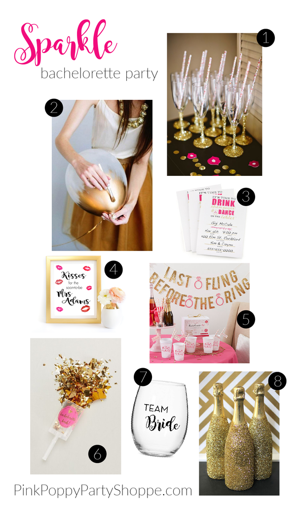 {Plan Your Party} Sparkle Bachelorette Party Inspiration | Pink Poppy Party Shoppe
