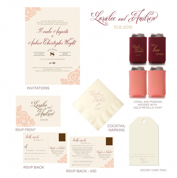 Custom Designed Day of Wedding Product Packages
