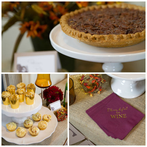 Free Thankful Thanksgiving Dessert Table Printables and Thankful for Wine Napkins | Pink Poppy Party Shoppe Blog