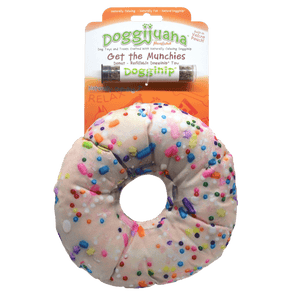 Doggijuana® - Get the Munchies Donut - Refillable Dogginip® Toy
