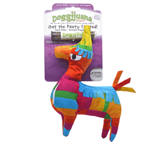 Doggijuana® - Get the Pawty Started Llama Pinata - Refillable Dogginip® Toy
