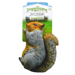 Doggijuana® - Get Outdoors Squirrel - Refillable Dogginip® Toy