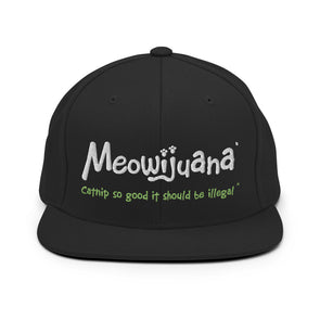 Snapback Hat w/ Embroidered Meowijuana Logo