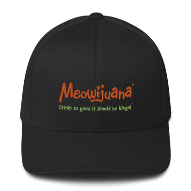 Structured Twill Cap w/ Embroidered Meowijuana Logo