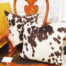 Load image into Gallery viewer, Faux Cowhide Down Filled Custom Pillows
