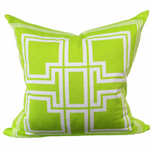 Load image into Gallery viewer, Greek Key Lime Green Pillow - Chestnut Lane Antiques & Interiors - 1