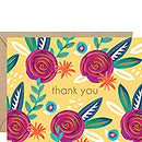 Folk Floral Thank You Card