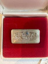 "Load image into Gallery viewer, Franklin Mint 500 grain Ingot - ""The Open Sleigh"""