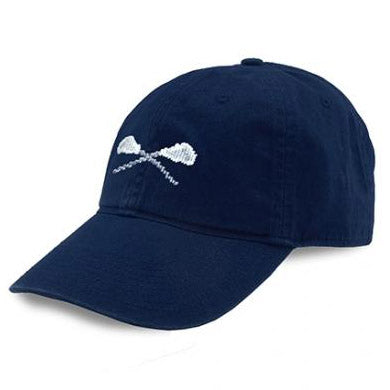 Lacrosse Sticks Needlepoint Hat (Navy)