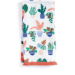 Potted Plants Tea Towels