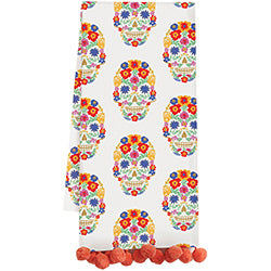 Floral Sugar Skulls Tea Towels