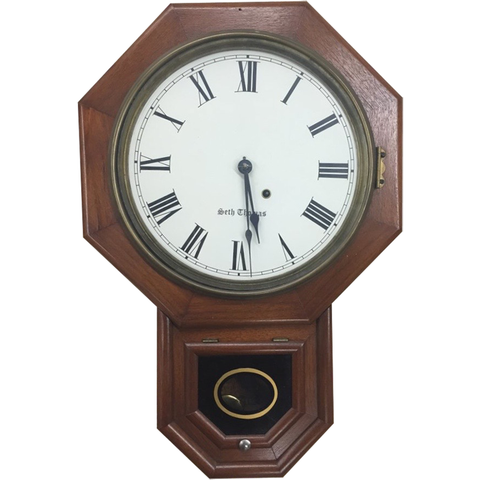 Seth Thomas Hanging Clock - Chestnut Lane Antiques & Interiors - 1