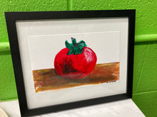 "Load image into Gallery viewer, Clara Gutierrez Framed Acrylic on Paper - ""Tomato"""