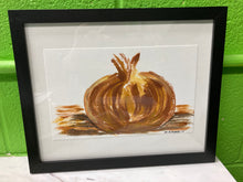 "Load image into Gallery viewer, Clara Gutierrez Framed Acrylic on Paper - ""Onion"""