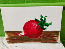 "Load image into Gallery viewer, Clara Gutierrez Acrylic on Paper - ""Radish"""