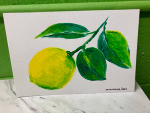 "Clara Gutierrez Acrylic on Paper - ""Meyer Lemon"""