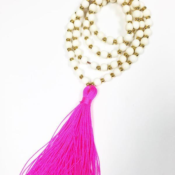 Marfa Double Wrap Tassel Necklace - Chestnut Lane Antiques & Interiors