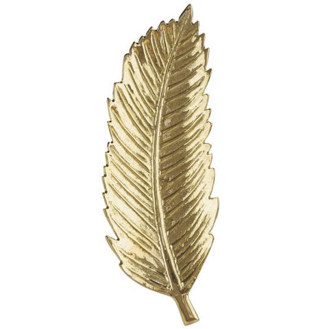 Feather Brass Trinket Tray
