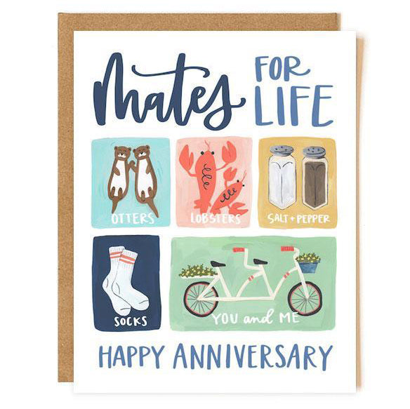 Mates for Life - Anniversary Card