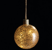 Load image into Gallery viewer, Chunky Vintage Glass Lighted Ball Ornament - Chestnut Lane Antiques & Interiors - 2