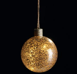 Chunky Vintage Glass Lighted Ball Ornament - Chestnut Lane Antiques & Interiors - 2