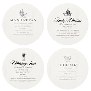 Letterpressed Martini Coasters - Chestnut Lane Antiques & Interiors