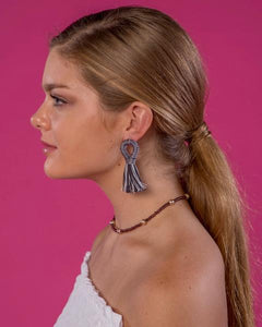 Stevie Loop Earrings - Black & White
