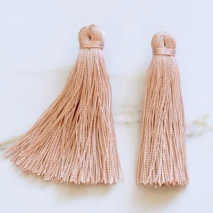 Medium Tassel Earrings - Blush Pink