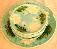 Load image into Gallery viewer, Majolica Turn of the Century German plates set of 8 - Chestnut Lane Antiques & Interiors - 7
