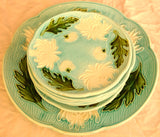 Majolica Turn of the Century German plates set of 8 - Chestnut Lane Antiques & Interiors - 7