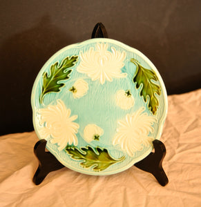 Majolica Turn of the Century German plates set of 8 - Chestnut Lane Antiques & Interiors - 3