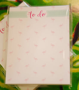 "Flamingo ""To do"" Mini Notepad - Chestnut Lane Antiques & Interiors - 2"