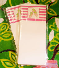 Load image into Gallery viewer, Pink Striped Notepad with Green Sandals - Chestnut Lane Antiques & Interiors - 2