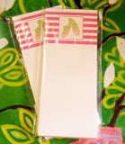 Pink Striped Notepad with Green Sandals - Chestnut Lane Antiques & Interiors - 2