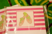 Load image into Gallery viewer, Pink Striped Notepad with Green Sandals - Chestnut Lane Antiques & Interiors - 3