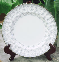 Load image into Gallery viewer, Spode Fleur De Lys Gray Bone China Dinner Plate - Chestnut Lane Antiques & Interiors - 1